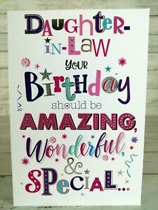 Daughter-In-Law Your Birthday Should Be Amazing Wonderful Special.. Card