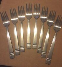 8 Salad Forks Pfaltzgraff Passage Stainless Flatware Silverware