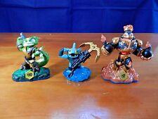 Lot of 3 Skylanders,Swap Force;Blast Zone,Stink Bomb,Anchors Away Gill Grunt, VG