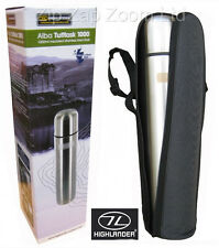 THERMOS VUOTO FREDDO CALDO PALLONE Stainless Steel Water Bottle 1L 1 LITRO + Custodia