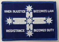 Eureka flag   --  Resistance Becomes Duty  -- embroidered cloth patch.   D020910