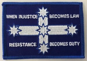 Eureka flag  --  Resistance Becomes Duty   embroidered cloth patch.  D020910