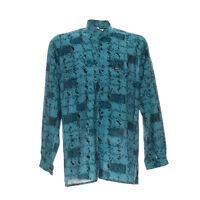 Langarmhemd Größe M Stehkragen Herren Freizeit Shirt Mix Print Muster
