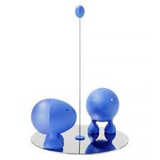 A di Alessi Lilliput Salt and Pepper Set in Blue (ASG02)