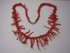 Alt Astkoralle Korallenkette Koralle Coral Necklace Halskette  Kette Rot Nr.107