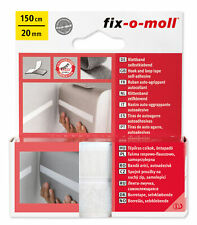 (3,97 Eur / M) Fix-o-moll Velcro Straps Sk White 150cm x 20mm 2301