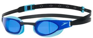 SPEEDO FASTSKIN ELITE SWIMMING GOGGLE BLUE LENS TINT COMPETITION RACING