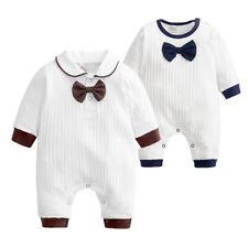 Newborn Kids Baby Boys Outfits Jumpsuit Romper Bodysuit Gentleman Clothes Infant