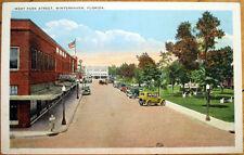 1920 Winterhaven, FL Postcard: West Park Street-Florida
