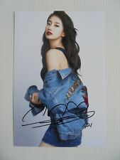 Suzy Bae Miss A 4x6 Photo Korean Actress KPOP auto signed USA Seller SALE Y3