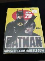 BATMAN MOVIE 2ND SERIES TRADING CARD BOX 1989 36 PACKS SERIES 2. FACTORY SEALED