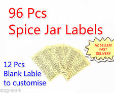 Herb Spice Jars Label 96 PCS Clear Self Adhesive Canisters Jar Label