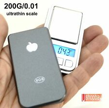 Mini Jewelry Digital Pocket Scale Ultrathin 200gm/0.01 Lt. Weight 200g/0.01