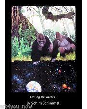 "SCHIM SCHIMMEL ""Testing The Waters"" POSTER PRINT on Paper 36X24 Gorillas Forest"