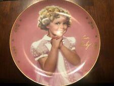 Danbury Mint Donald Zolan 1995 Shirley Temple Precious Ltd Ed Plate