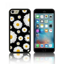 'Daisies' Silicone Case for Apple iPHONE 6, 6S ,7 PLUS Black Floral TPU Cover