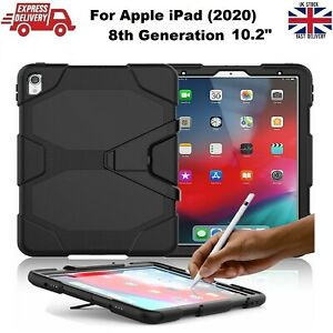 Tough Military Heavy Duty Silicone Rubber Case for iPad 8th Gen (2020) 10.2 inch