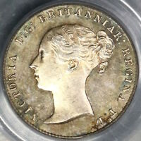 1861 PCGS MS 64 Victoria 3 Pence Great Britain Silver Coin (18110405C)
