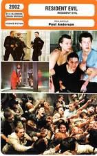 FICHE CINEMA : RESIDENT EVIL - Jovovich,Rodriguez,Anderson 2002