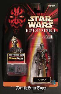 Star Wars Episode I 1 C-3PO Naked Droid R2-D2 Anakin Phantom Menace Comm Tech