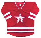 Custom Hockey Jerseys with a Beer Bottle and Stick Twill Logo $59