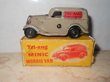 Triang Minic Morris Van vintage tin toy with a key & box