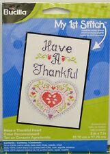 "Bucilla My 1st Stitch Cross Stitch Kit 5""x7"" ""Have A Thankful Heart"""