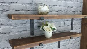 Reclaimed Rustic Old Scaffold Board Shelves Industrial.+2 Brackets