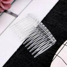 20Pcs/Lot Clear Plastic Hair Clips Side Combs Pin Barrettes Hair Comb Accessorie