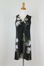 HYPE Anthropologie Sleeveless Floral Print Silk Shift Dress 0 New with Tags