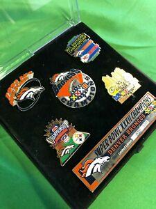 M237 NFL Denver Broncos Super Bowl XXXII Collector's Pin Set 1998 Limited Ed.
