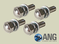 SPITFIRE '62-'80 HARD & SOFT TOP FITTING CHROME PLATED DOME HEAD BOLTS x 4