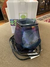 Scentsy Crystal Ice Large Warmer Blue In Original Box (AH)