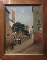 Tableau Peinture Cadre 19ème XIXème 20ème XXème Noli Paysage Italie Rare ancien