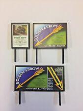 4 Model Railway Billboards / Posters - Trackside Signs - OO Gauge - Pack 157