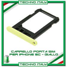 CARRELLO SLOT PORTA MICRO SIM TRAY GIALLO YELLOW PER IPHONE 5C