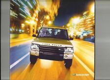 LAND Rover Discovery E, S, GS, XS & ES vendita BROCHURE & SPECIFICHE OPUSCOLO 2002