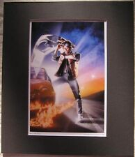 Back To The Future Movie Art Poster Print Matted