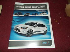 2012 FORD MUSTANG BOSS 302 AND LAGUNA SECA ORDER GUIDE COMPANION ALBUM MANUAL
