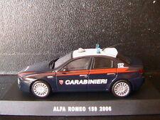 ALFA ROMEO 159 2.4 JTDI 2006 CARABINIERI DEAGOSTINI 1/43 berline LEFT HAND DRIVE