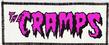 THE CRAMPS NEON UV PINK & BLACK PATCH PSYCHOBILLY PUNK GOTH GARAGE STAY SICK