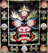 BROCADE COLORFUL WRATHFUL PROTECTOR MAHAKALA TIBETAN BUDDHIST ALTAR/SHRINE CLOTH