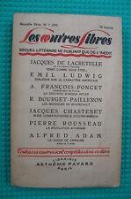 O.L.F 233/1945 LACRETELLE CHASTENET E.  LUDWIG A. ADAM
