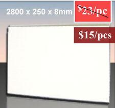 Caravan Interior Wall Ceiling Lining Gloss White PVC Panel 1 pcs 2800x250x8mm