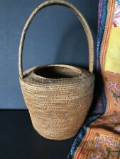 Old Papua New Guinea Buka Basket with Handle …beautiful collection / display...