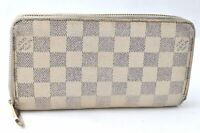 Authentic Louis Vuitton Damier Azur Zippy Wallet N60019 LV B1100