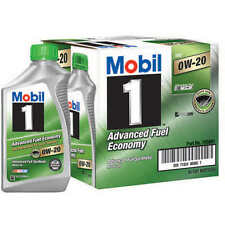 Mobil 1 Advanced Fuel Economy Full Synthetic Motor Oil 0W-20 6 Pack Of 1 Quart e
