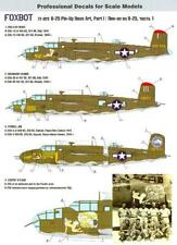 Foxbot Decals 1/72 NORTH AMERICAN B-25 MITCHELL Pin Up Nose Art Part 1