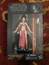 """Star Wars The Black Series 6"""" Inch #05 Orange Line Princess Leia in Slave Outfit"""
