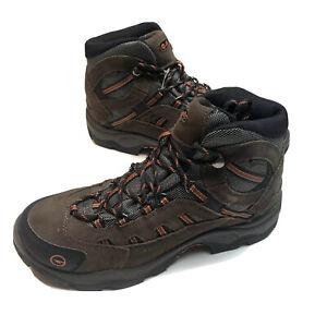 Hi-Tec Mens Bandera Brown Leather Work Boots Shoes 9.5 Wide Waterproof 52267